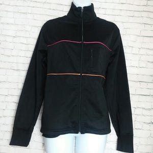 PROSPIRIT black zip up jacket with stripes